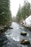 Burney下跌小河,小河,加利福尼亚,美国 图库摄影