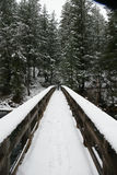 Burney Creek Bridge, snow covered bridge, California Royalty Free Stock Images