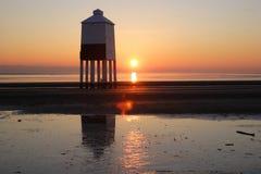 Burnham在海运灯塔 库存照片