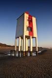 Burnham-auf-Meerhölzerner Leuchtturm Stockfotografie