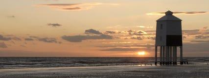 Burnham Leuchtturm am Sonnenuntergang Lizenzfreies Stockfoto
