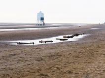 Burnham na praia do mar em Somerset Foto de Stock
