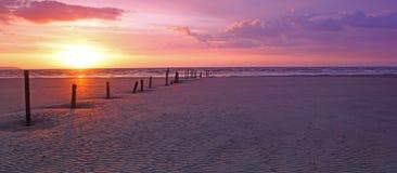 Burnham nights. Berrow sands at burnham-on-sea, somerset Royalty Free Stock Image