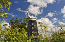 Burnham Overy Staithe Mill Fotografía de archivo libre de regalías