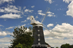 Burnham Overy Staithe Mill Imagenes de archivo