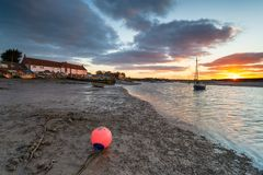 Burnham Overy Staithe in Norfolk fotografia stock