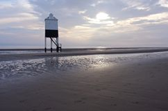 Burnham on Sea beach. Royalty Free Stock Images