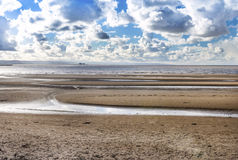 Burnham on Sea Beach looking towards Hinkley Point. North Somerset England Stock Photos