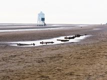 Burnham on Sea beach in Somerset. Stock Photo