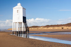 Burnham On Sea Lighthouse Somerset England. The Low 1832 Wooden Lighthouse at Burnham on Sea, Somerset England UK Europe royalty free stock photo