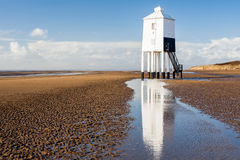 Burnham On Sea Lighthouse Somerset England. The Low 1832 Wooden Lighthouse at Burnham on Sea, Somerset England UK Europe royalty free stock image