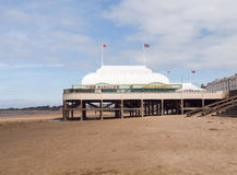 Burnham-on-sea Pier and beach, Somerset stock photo