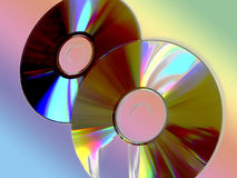 Burnig cds. Disks composition stock photos