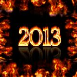 Burning 2013. Stock Photos