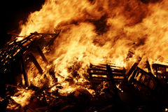 Burning Royalty Free Stock Photography