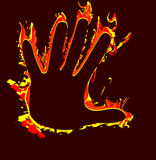 Burning. Vector illustration - burned at the work Royalty Free Stock Photos