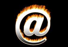 Burning @. Sign royalty free illustration