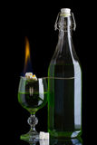 Burning absinthe Stock Photography