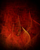 Burning abstract background. Red burning abstract background with flames Stock Photos