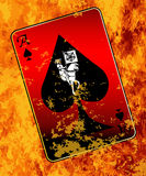 Burning Ace Of Spades Stock Images