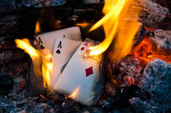 Burning Aces Royalty Free Stock Image