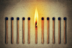 Burning alone royalty free stock image