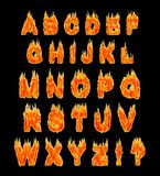 Burning Alphabet Stock Photography