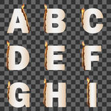 Burning Alphabet. Set 1 Royalty Free Stock Images