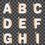 Burning Alphabet. Set 1 Royalty Free Stock Images