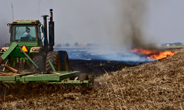 Burning And Plowing-8160 Royalty Free Stock Image