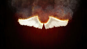 Burning Angel Wings Illustration. Angel wings in flame and fire Royalty Free Stock Photo