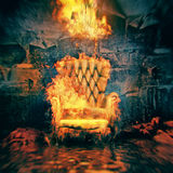 The burning armchair Royalty Free Stock Photo