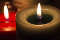 Burning aroma candles Stock Image