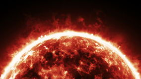 Burning atmosphere of red giant star stock footage