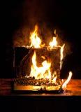 burning bärbar dator royaltyfri fotografi