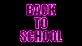 Burning Back to school text on black, 3d render background, computer generating. Burning Back to school text on black, 3d rendering background, computer Stock Photography