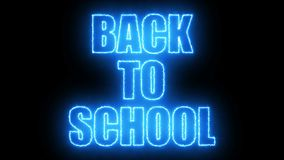 Burning Back to school text on black, 3d render background, computer generating. Burning Back to school text on black, 3d rendering background, computer Royalty Free Stock Images