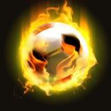 Burning ball Stock Image