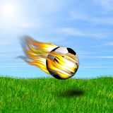 Burning ball Royalty Free Stock Photography