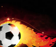 Burning  ball Stock Images
