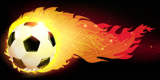 Burning  ball Stock Photography
