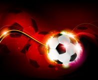 Burning ball on red  background Royalty Free Stock Images