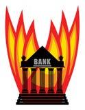 Burning Bank Royalty Free Stock Photos