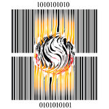 Burning bar code Royalty Free Stock Image