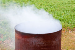 Burning Barrel Stock Images