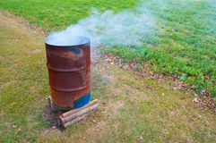 Burning Barrel Stock Photos