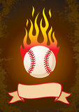 Burning baseball Royalty Free Stock Photo