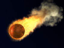 Burning Basketball Royalty Free Stock Image