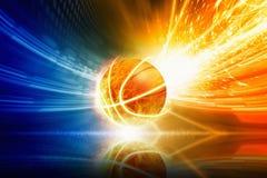 Free Burning Basketball Stock Photography - 64046812
