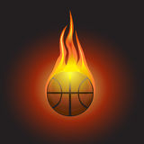 Burning basketball vector. For your design Royalty Free Stock Photos